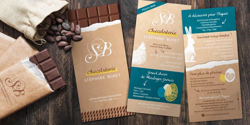 Chocolaterie Buret - Création graphique